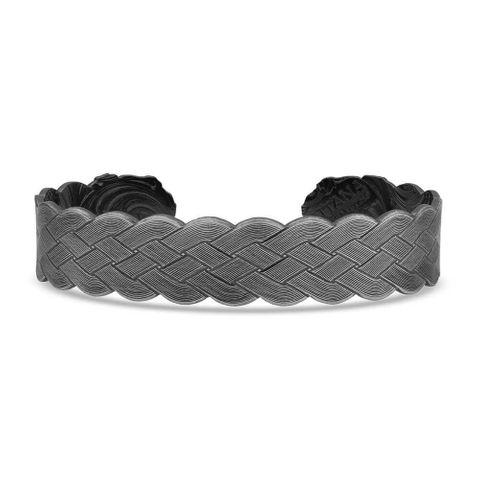 Flat Braid Bull Rope Cuff Bracelet - BC4445NBB