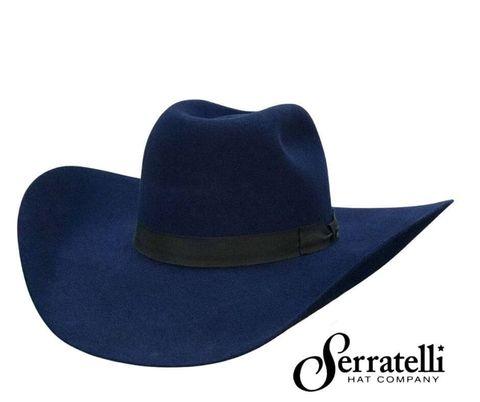 6X Navy S4 Felt Cowboy Hat - 6XNAVY