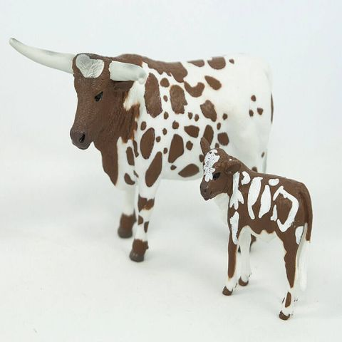 Longhorn Cow and Calf - 405