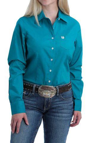 Women's Solid L/S Shirt - MSW9164167