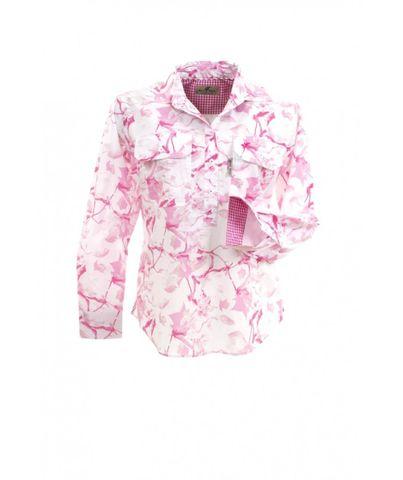 Women's Pink Lilly L/S Shirt - W03DPLIL