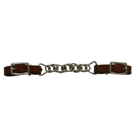 Double Flat Link Chain Curb Strap - FOR24-0045