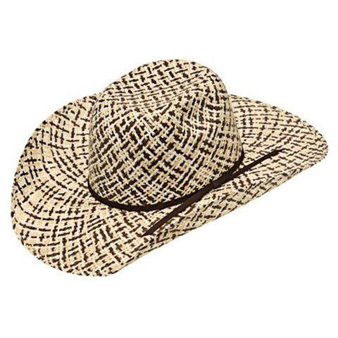 Children's 3 Tone Straw Cowboy Hat - T71635