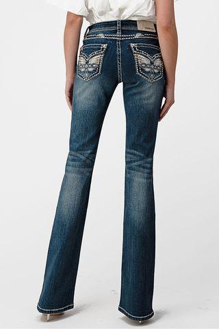 Women's Faux Flap Pocket Jean - EB81588