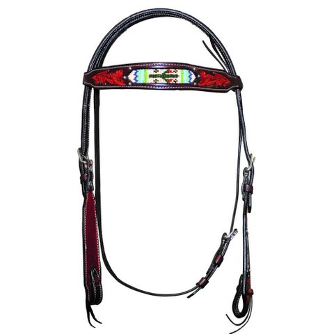 Cactus Beaded Headstall - FOR20-0050 CA