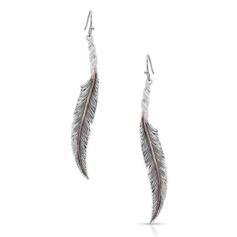 Wind Dancer Wrapperd Feather Earrings - ER4222RG