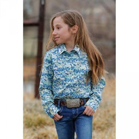 Girl's Wild Horses L/S Shirt - CTW3220019