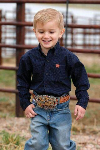 Boy's Toddler Polka Dot L/S Shirt - MTW7061224