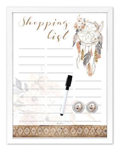Barn Owl Shopping Whiteboard - KMX-0002