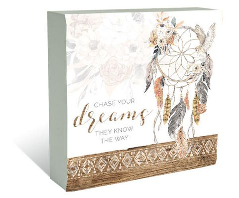 Barn Owl Dreams Plaque Block - KBD-0915