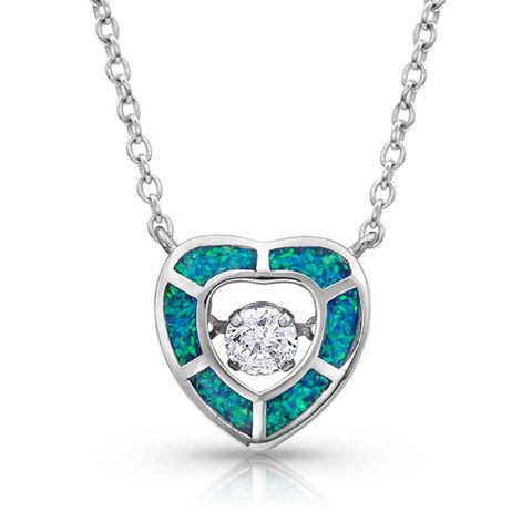 River of Lights Dancing Heart Necklace - NC4160