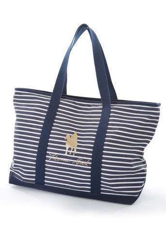 Stripe Zip Logo Tote - T0W2941BAG