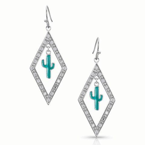 Diamond Cactus Earrings - ER4372