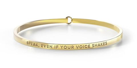 Speak Even If Your Voice Shakes Bangle - SPEAK EVEN IF GOLD