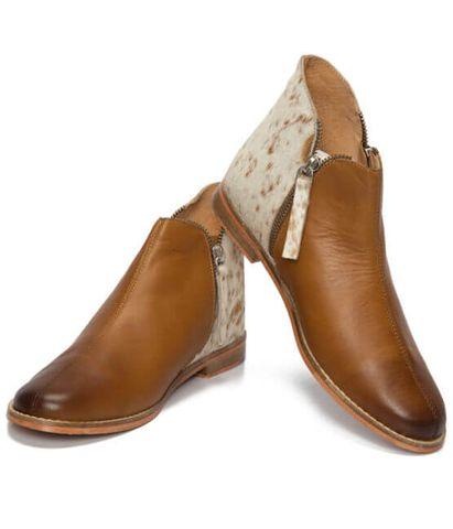 Chelsea Cowhide Flat Boot - SHOE55T