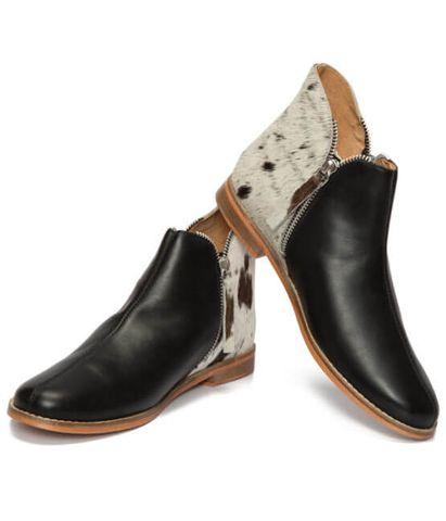 Chelsea Cowhide Flat Boot - SHOE55B
