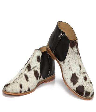 Jersey Hairon Flat Boots - SHOE54B