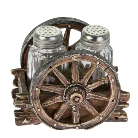 Wagon Wheel Salt & Pepper Shaker Set - SP-03