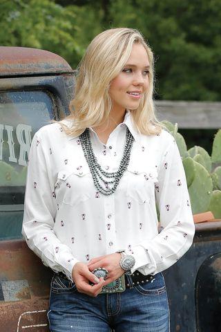 Women's Teepee Print L/S Shirt - CTW7250002