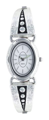 Silver Pin Points Expansion Band Watch - WCH2876D