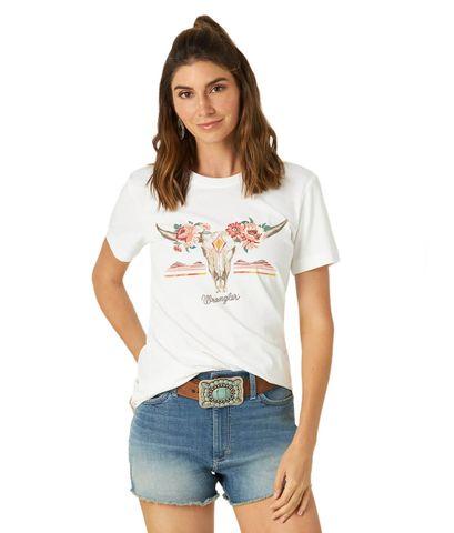 Women's Longhorn Skull Fitted Tee - LWK146W