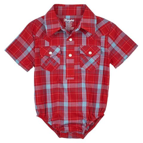 Boy's Infant Western Check Bodysuit - PQ0409R