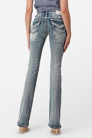 Women's Stitched V Pocket Jean - EB61506