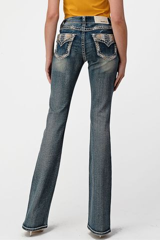 Women's Arrow Embroidered Jean - EB81592
