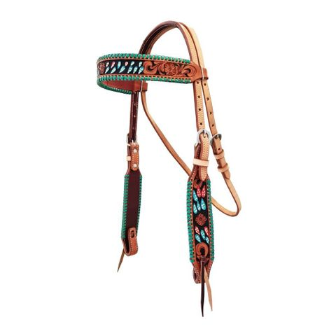Cactus Turquoise Headstall - FOR20-0081