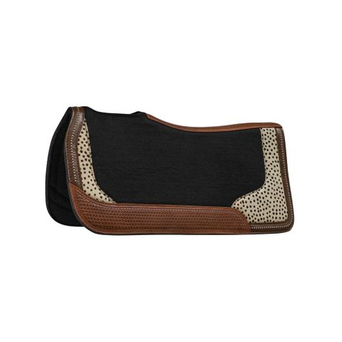 Basket Weave Spot Felt Saddle Pad - CLT7182