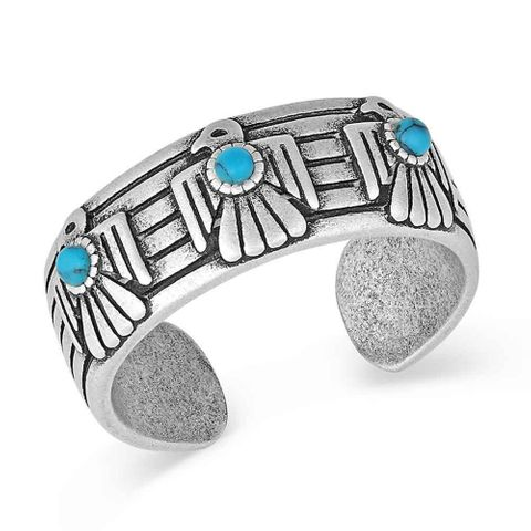 Rising Thunderbird Turquoise Ring - RG4905