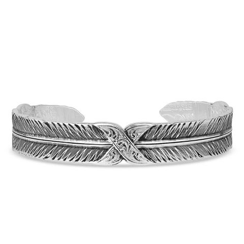 Strength Within Feather Cuff Bracelet - BC4839