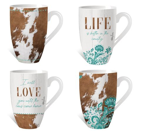 Country Assorted Mugs - KZH-0242