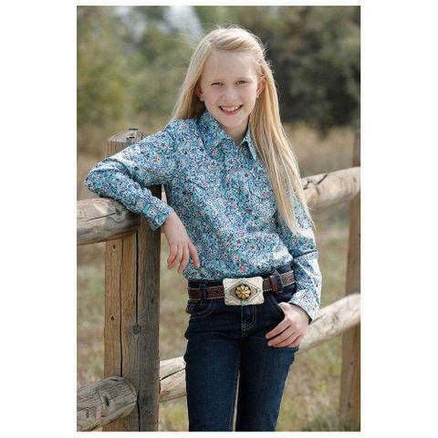 Girl's Paisley L/S Shirt - CTW3230027