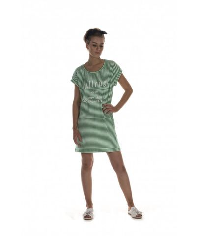 Women's Cuff Tee Dress - BTS13DRGRN