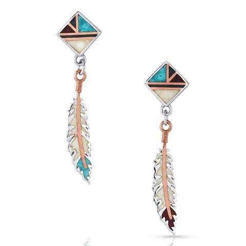 American Legends Feather Earrings - ER4823