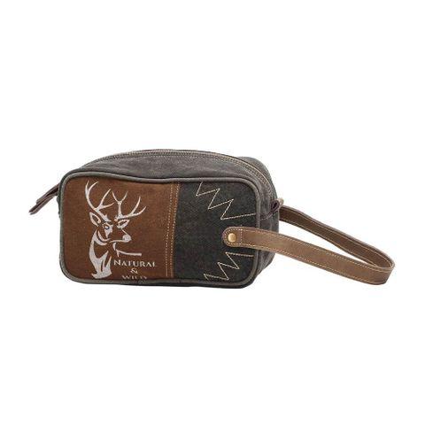 Men's Wild Reindeer Shaving Kit Bag - S-1121