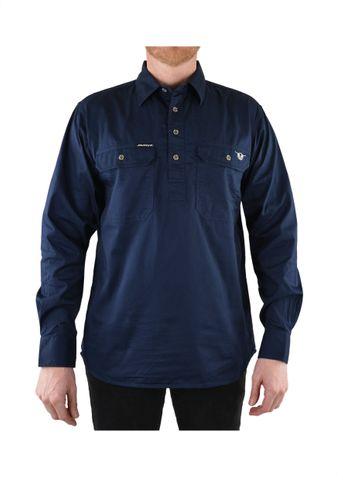 Men's Half Placket L/S Shirt - B1S1101120201