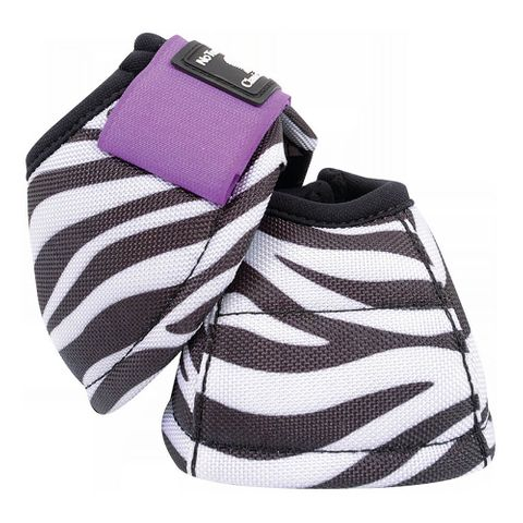 Zebra Purple No Turn DL Bell Boot - CDNDL16ZP