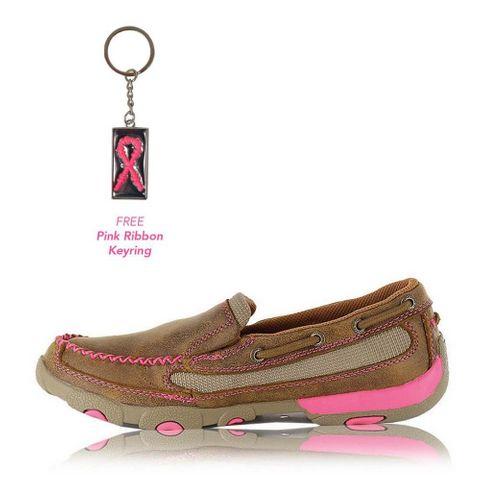 Pink Ribbon Slip On Moc - TCWDMS003