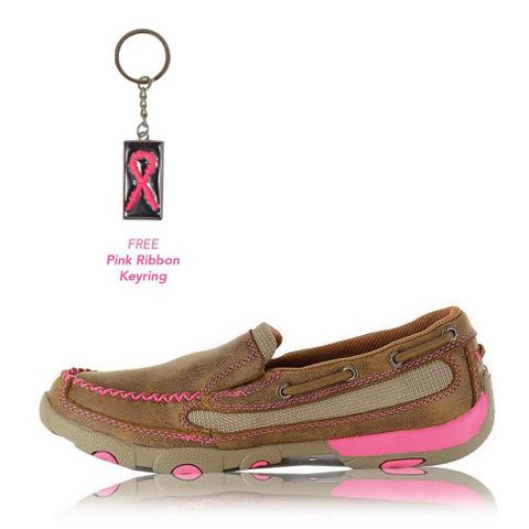 Pink Ribbon Slip On Moc - TCWDMS003