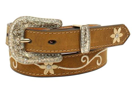 Embroidered Flowers Belt - N4438644