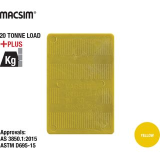 150x100x5 YELLOW PANEL SHIM