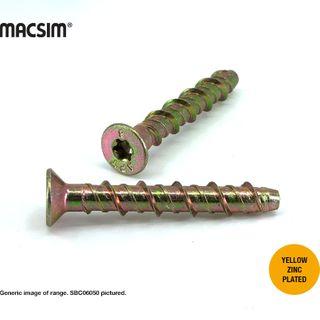 6MMx50MM MACSIM CSK SCREWBOLT