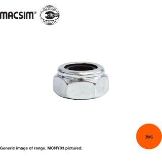 M 8 M/C NYLON INSERT S/L NUT