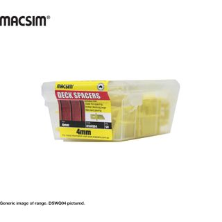 DECK SPACER  FOR WOOD DECKS 4MM YELLOW QP.