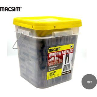 6.4MMx75MM GREY WINDOW PCK BIG BUCKET