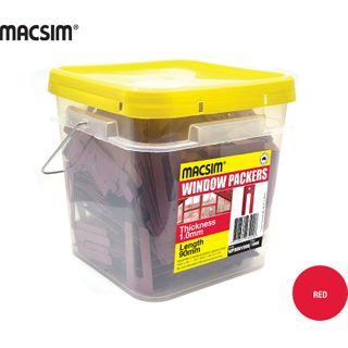 1.0MMx90MM RED WINDOW PCK BIG BUCKET