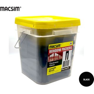 10.0 X 90MM BLACK WINDOW PCK BIG BUCKET