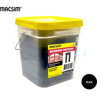 10MM X 75MM BLACK WINDOW PCK BIG BUCKET